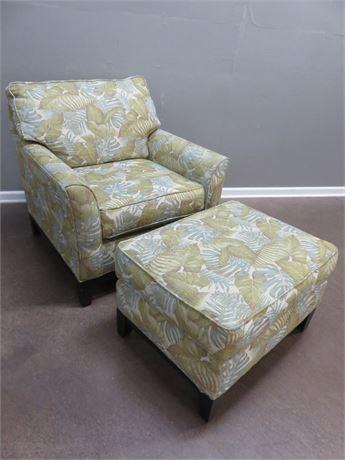 BROYHILL Arm Chair & Ottoman