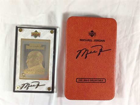 Upper Deck Michael Jordan 24k Gold Signature Single Card
