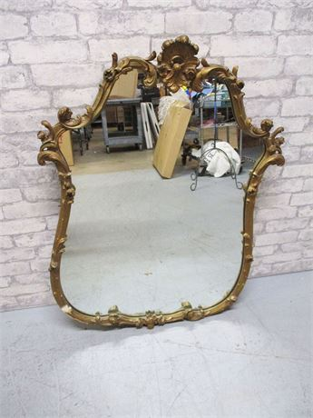VINTAGE GOLD-PAINTED GESSO MIRROR