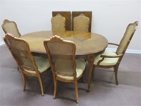 DREXEL Touraine French Provincial Dining Set