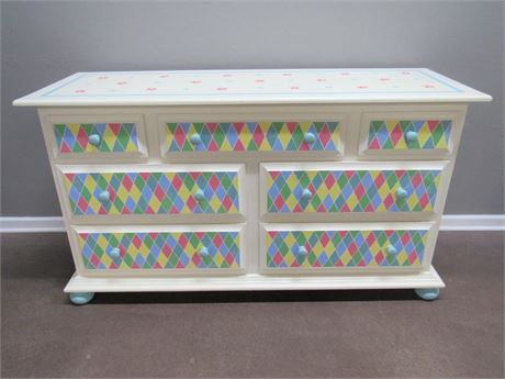 HAND CRAFTED/PAINTED BEDROOM DRESSER