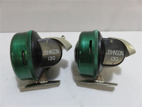 2 Vintage JOHNSON 130 Sabra Fishing Reels
