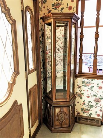 Hexagon Shaped Curio Cabinet