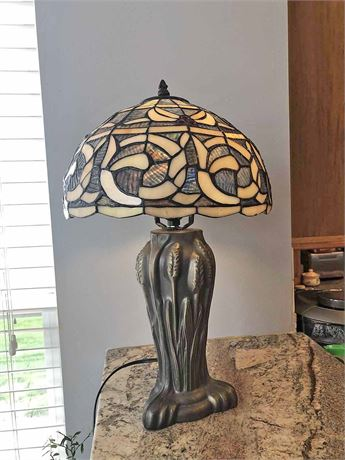 Faux Stained Glass Lamp