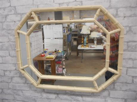 VINTAGE THOMASVILLE ALLEGRO COLLECTION FAUX BAMBOO MIRROR