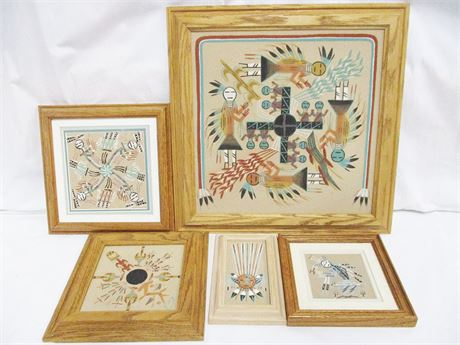 LOT OF AUTHENTIC NAVAJO SAND PAINTINGS