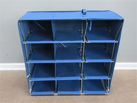 Folding Cloth Storage/Shoe Cubby with Metal Frame