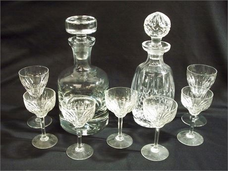 9 PIECE GLASS/CRYSTAL LOT