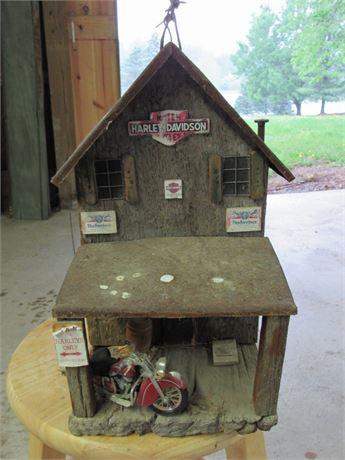 Vintage Harley Davidson Decorative Birdhouse