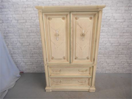 BASSETT SAVANNAH WHITE WARDROBE/ARMOIRE