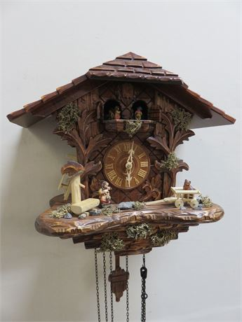 Vintage Black Forest Chalet Cuckoo Clock - GERMANY
