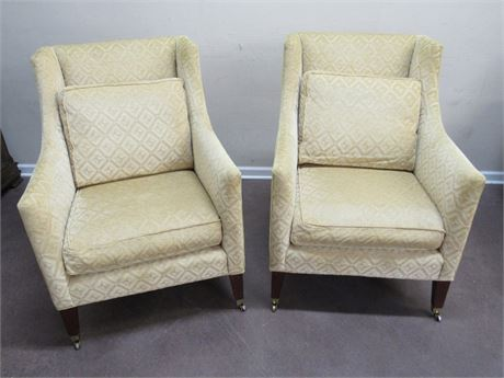 PAIR OF VINTAGE MATCHING MILLING ROAD/BAKER FURNITURE OCCASIONAL CHAIRS