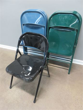 7 Metal Folding Chairs