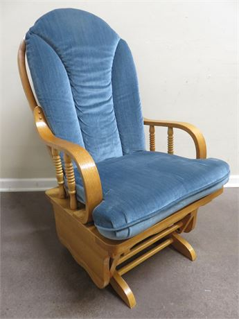 Bentwood Oak Glider Chair