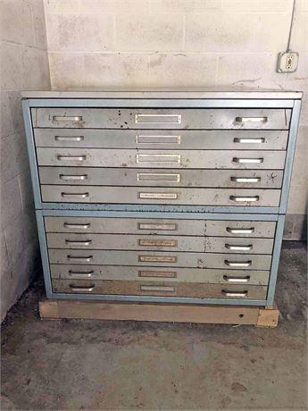 Vintage Map/Plan File Cabinet