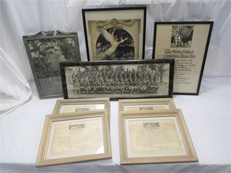 8 Piece World War I Era Memorabilia Lot