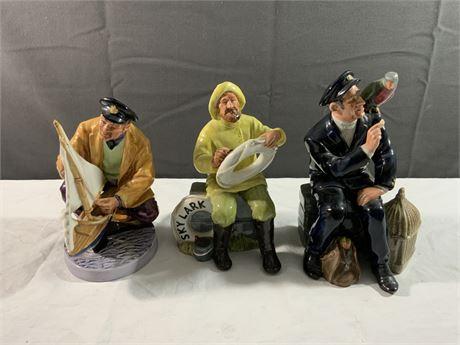 (3) Vintage Royal Doulton Figurines