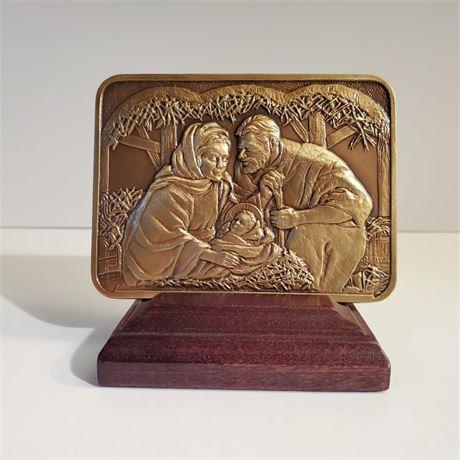 Bronze Nativity Ingot