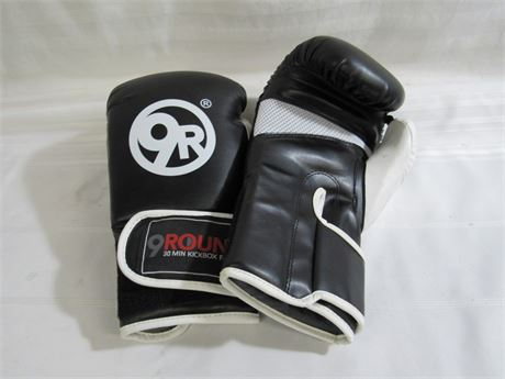 PAIR OF 9R 9ROUND 30 MINUTE KICK BOXING FITNESS BOXING GLOVES