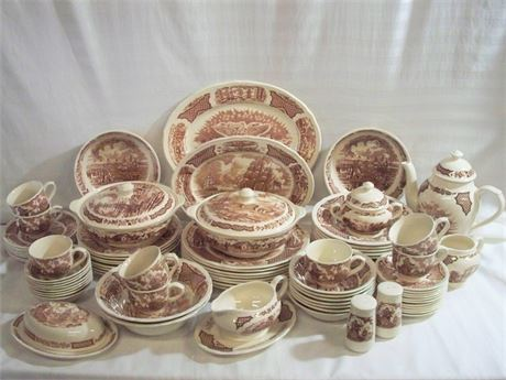 ALFRED MEAKIN STAFFORDSHIRE - FAIRWINDS CHINA LOT - 80+ PIECES