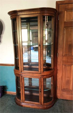 Wood & Glass Curio Cabinet
