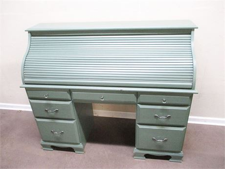 PAINTED ROLLTOP DESK