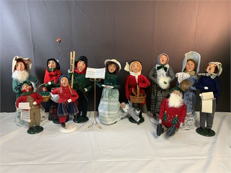 "(12) Vintage Byers Choice Ltd. ""The Carolers"" Figurines"