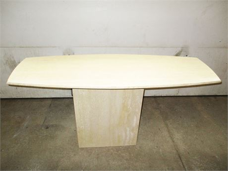 STUNNING MARBLE SURFBOARD CONSOLE TABLE