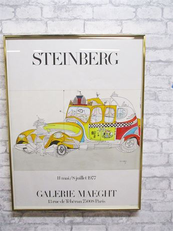 """TAXI, 1977"" POSTER BY SAUL STEINBERG"