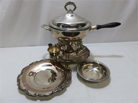 4-Piece Vintage Silverplate Lot