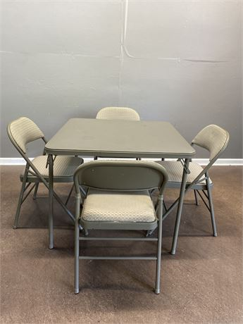 Card Table with Four Chairs