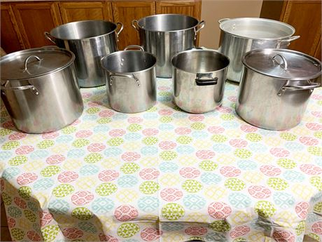 Lot of Stainless Steel Pots