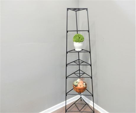 Tall Black Wrought Iron Plant Stand