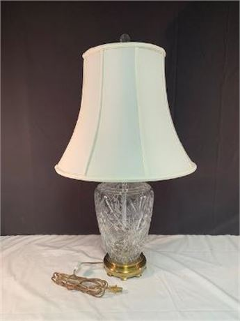 Crystal Lamp Brass like Base