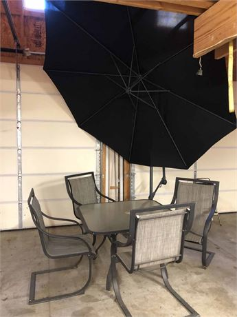 Patio Set & Umbrella