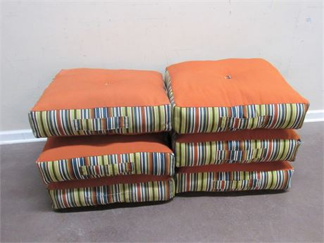 6 LARGE ALLEN AND ROTH OUTDOOR FURNITURE CUSHIONS