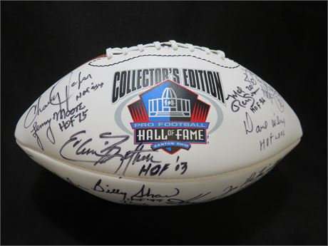WILSON NFL Hall of Fame Collector's Football - Hand Signed