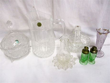 LOT OF VINTAGE CRYSTAL AND CUT GLASS