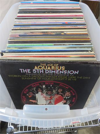 100+ Vintage Record Album Lot
