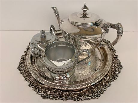 Silver Plated Coffee Service Lot