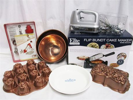 LOT OF BAKING ESSENTIALS FEATURING CUISINART AND NORDIC WARE