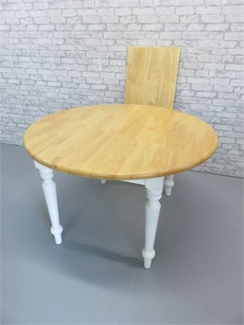 Round Top Maple Dinette Table