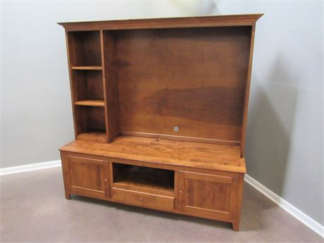 Nice Cherry Finished 2 Piece TV/Entertainment Center for Flat Panel TV