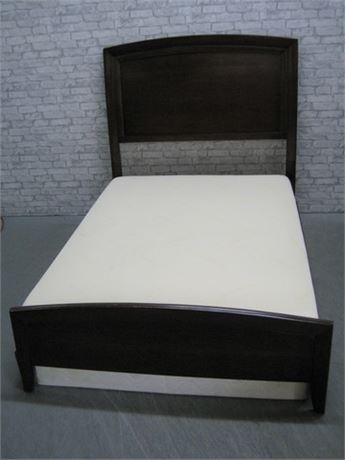 OSANA FURNITURE CO. FULL SIZE BED WITH TEMPUR-PEDIC MATTRESS AND BOX SPRINGS