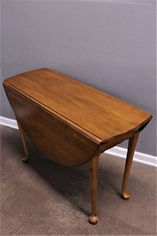 Ethan Allen Wood Table with Drop leaf sides