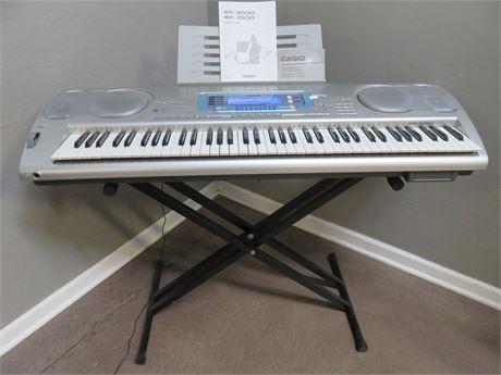 CASIO WK-3000 Professional Series 76-Key Digital Recording Studio Keyboard
