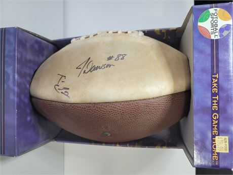 Tim Couch and JaJuan Dawson Signed Commemorative Football
