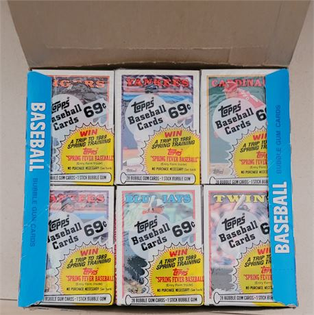 1988 Topps Baseball Cello Box w/ Factory Sealed Packs UNSEARCHED