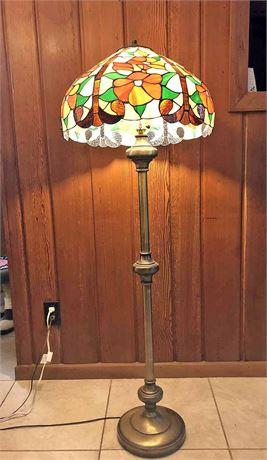 Faux Tiffany Floor Lamp