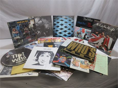Vintage The Who Classic Rock Album Collection
